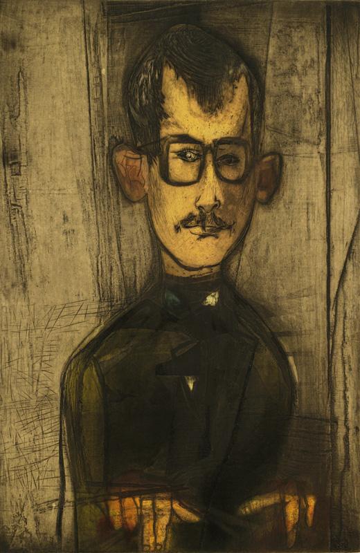 Self-Portrait (48), Mauricio Lasansky. Intaglio on paper, 1948. Museum Purchase in Memory of R. Lyle Bergo. 2013.3.1
