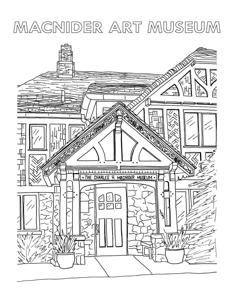 Museum front coloring page