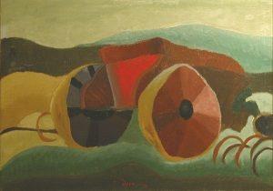 Arthur Dove, The Clay Wagon, oil on canvas, 1935
