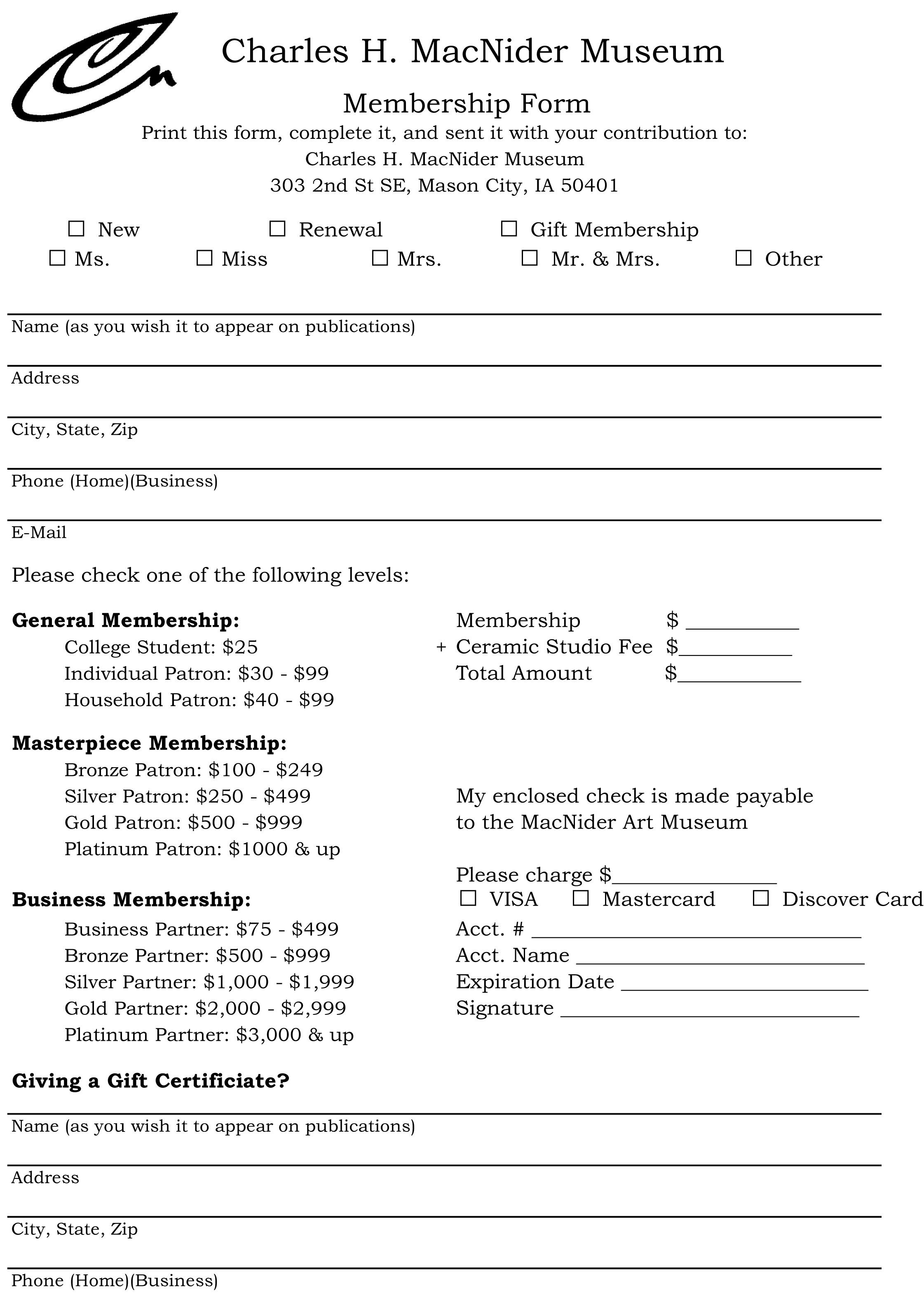 Membership Form.xls